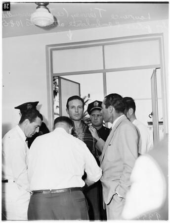 Tierney gets violent, 1951