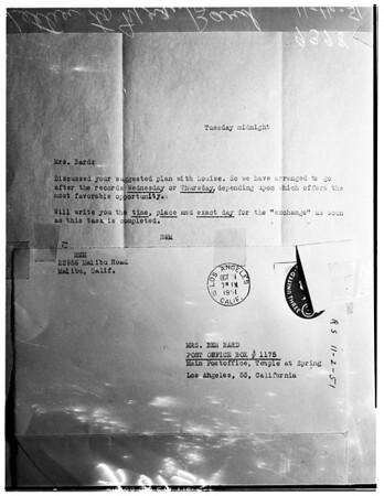 Bard extortion case ...At the District Attorney's Office, 1951
