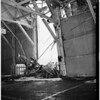 "Ship-dock crash... Johnson Line's S.S. ""Los Angeles"", 1951"