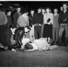 Auto Accident ar Edgement Street and Santa Monica Boulevard ...Woman pedestrian hurt, 1951