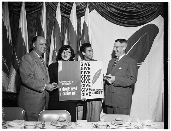 Community Chest award, 1951