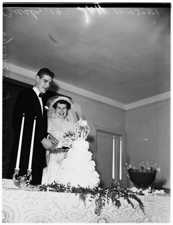 Tall people's wedding, 1951