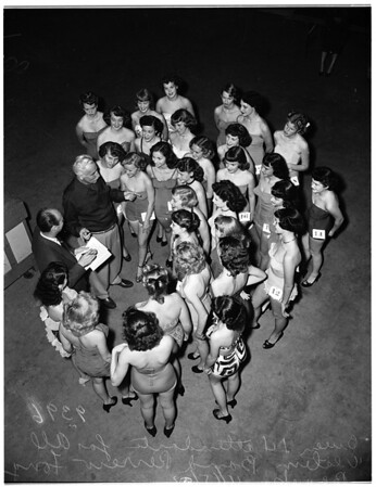 All-Western Band Revue at Long Beach Municipal Auditorium... Queen and four attendants, 1951