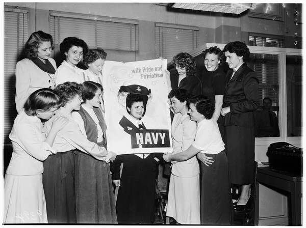 United States Navy... Wave recruits, 1951