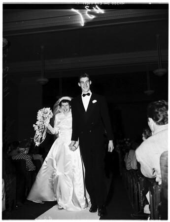 Tall people's wedding, 1951