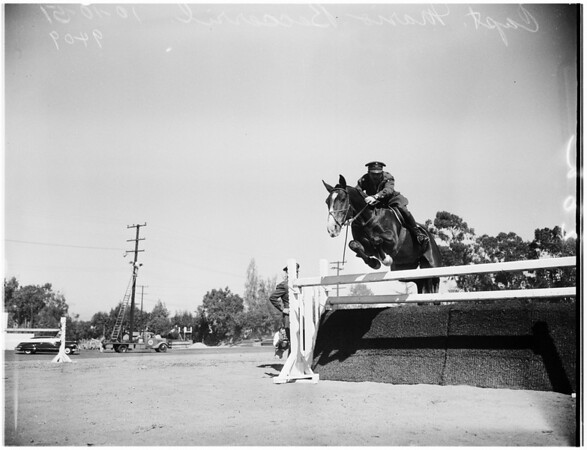 Horse Show ...first annual international, at Pan Pacific Park, 1951