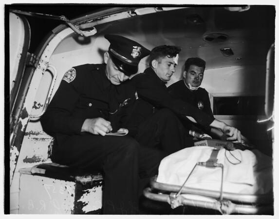 Accident...Police Car versus Auto...Adams Boulevard and Maple Avenue, 1951