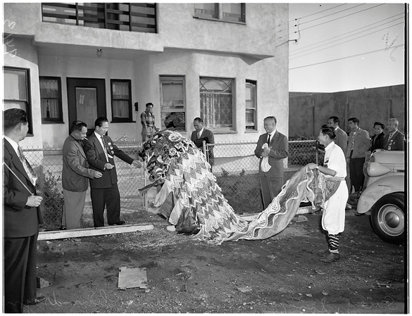 Tong building dedication, 1951