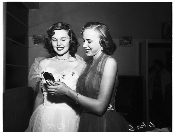 Girl of the Golden West Contest ...Preliminary to choose queen to reign over native sons and daughters ball at Biltmore Hotel on December 1, 1951