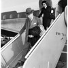 Barkley arrival at international airport, 1951