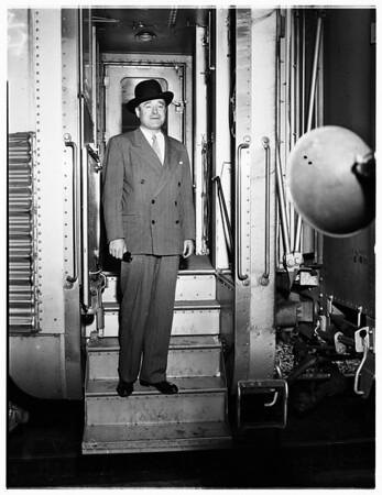 Attorney General arrives, 1951