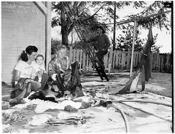Woman burned (6228 Atoll Avenue, North Hollywood), 1951