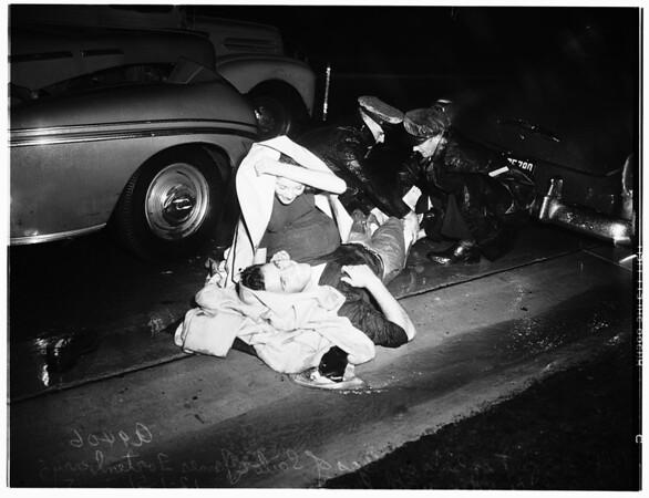 Accident ...Truck versus auto ...Alta Vista Avenue and Beverly Boulevard, 1951