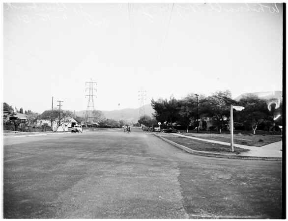 Freeway...Whitnall Highway freeway at Burbank, 1951