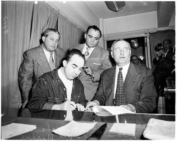 Signing Bond, 1951