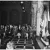 Korea war veterans on United Nations tour...at City Hall, 1951