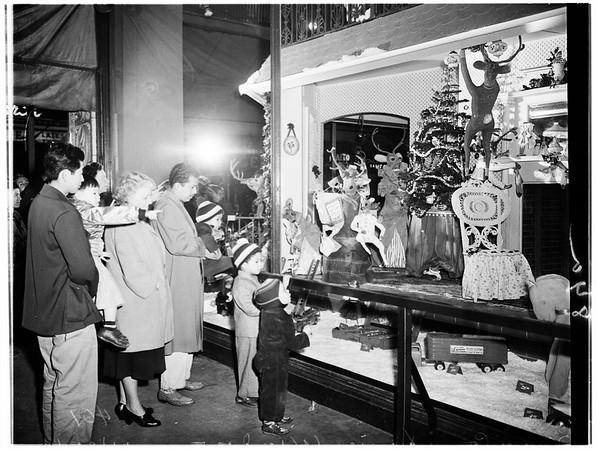 Christmas store windows, 1951
