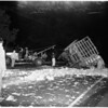 Accident... cabbage truck overturns... seven and a half tons aboard, 1951