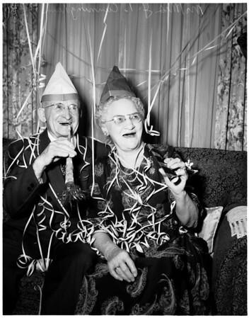 Sixtieth wedding anniversary, 1951