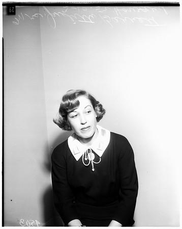 Howard divorce (Mrs. Howard on witness stand), 1952