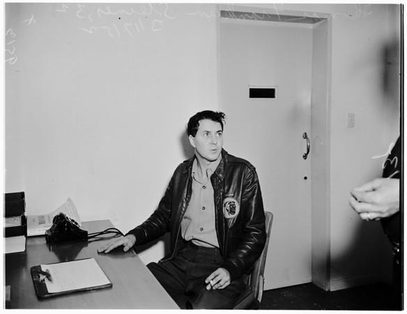 Television set shooting, 1952
