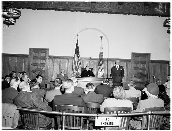 New municipal court set-up, 1952