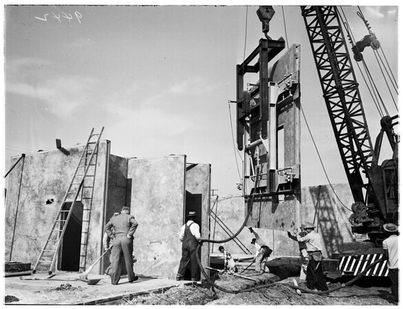 New method of construction ...pre-cast concrete, 1951
