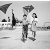 Kite contest (Fresno playground), 1952