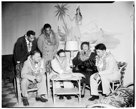 Hawaii delegation en route to Washington, 1952