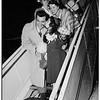 Sick girl meets Mario Lanza (International Airport), 1951
