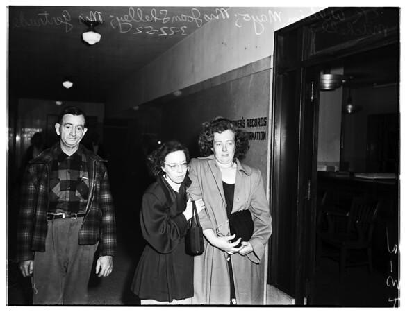 Huber murder story, 1952