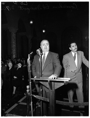 Police brutality hearing, 1952