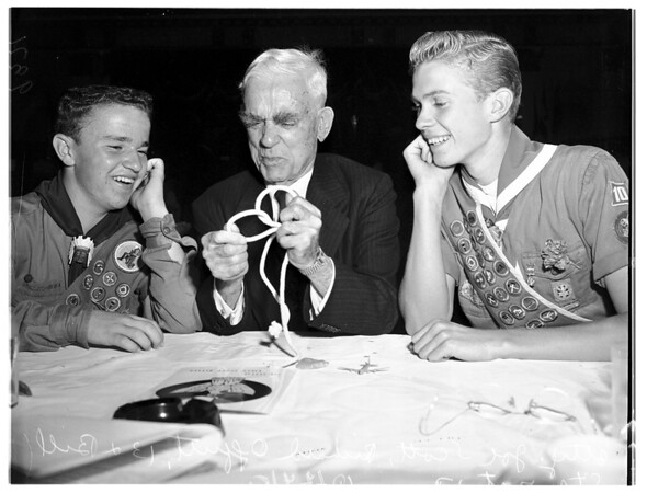 Boy Scout dinner at Biltmore Hotel, 1951