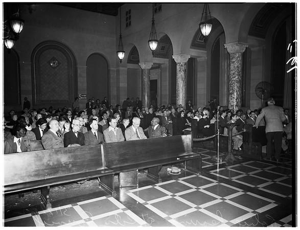 Police hearing, 1952