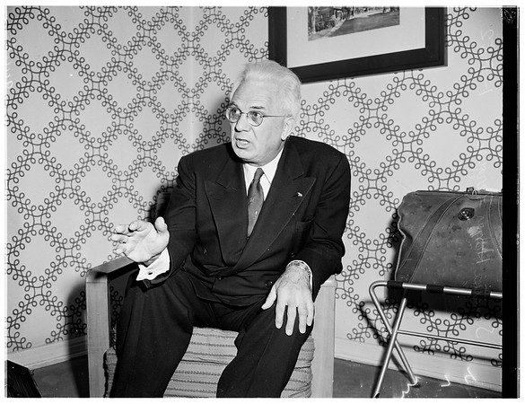 Interview at Roosevelt Hotel, 1952