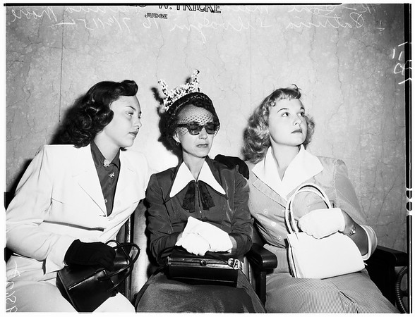 Murder trial, 1952.