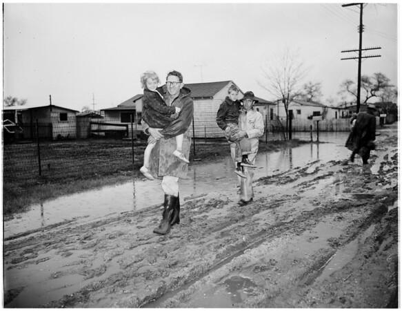 Storm damage, 1952