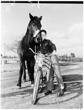 Christmas ...Examiner Bike Gift to Boy, 1951