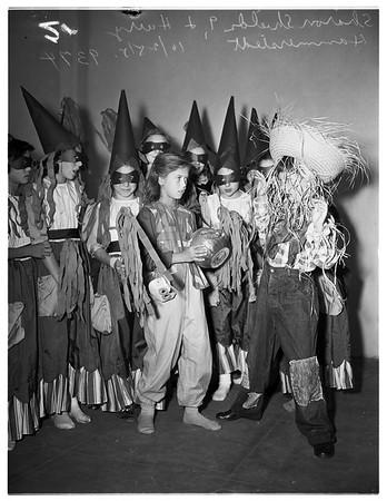 Halloween ...Ardmore Playground Park...Hobart Elementary School, 1951