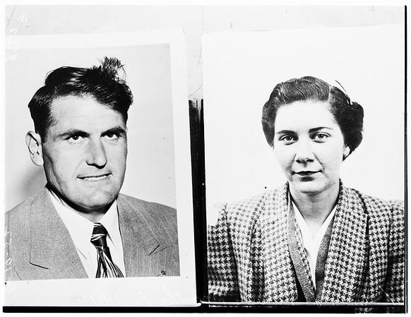 Patricia Moore case (copy of mug shots), 1952.