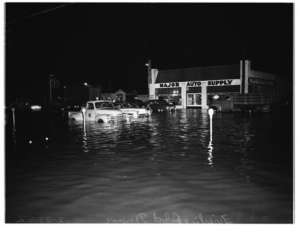 Rain comes to Downey again, 1952