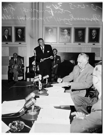 Public housing hearing, 1952
