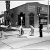 Gas line break (Pueblo Avenue and North Huntington Drive), 1952.