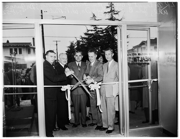 Health Center dedication, 1952