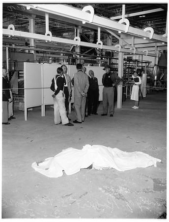 Douglas worker killed by fall, 1952