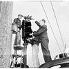 New air raid sirens ...Wilshire Boulevard and Western Avenue, 1952