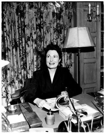 Alimony agreement, 1952