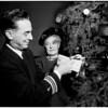Cruiser Los Angeles donates checks to homes, 1951