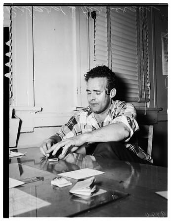 Burglary suspect --77th Street Police Station, 1951