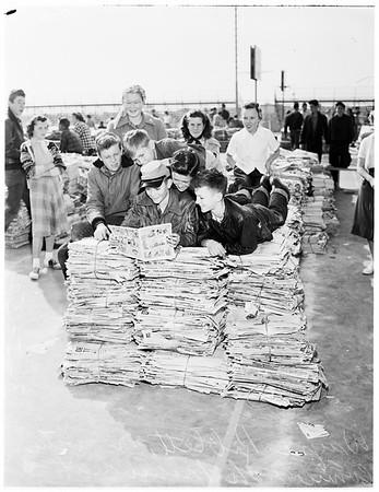 Weschester High School paper drive, 1952